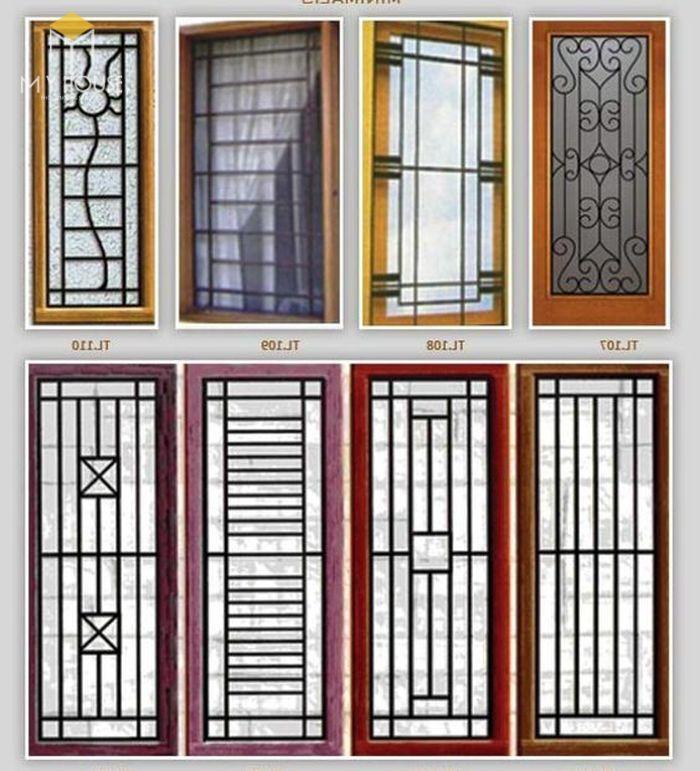 Song chắn cửa sổ nhôm kính đơn giản - M5