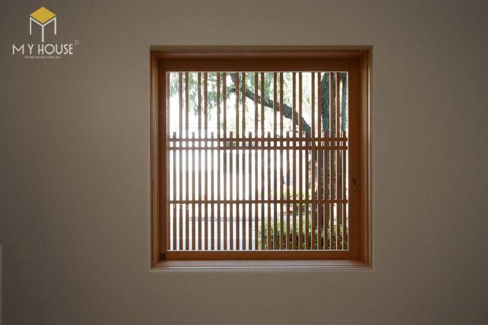 Song chắn cửa sổ gỗ đơn giản sang trọng - M7