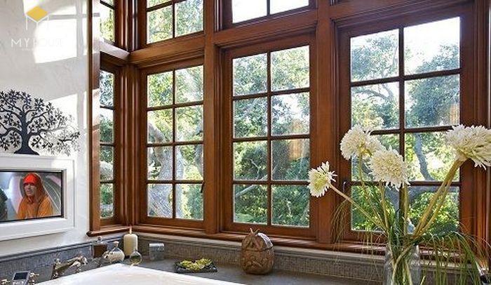 Song chắn cửa sổ gỗ đơn giản sang trọng - M8
