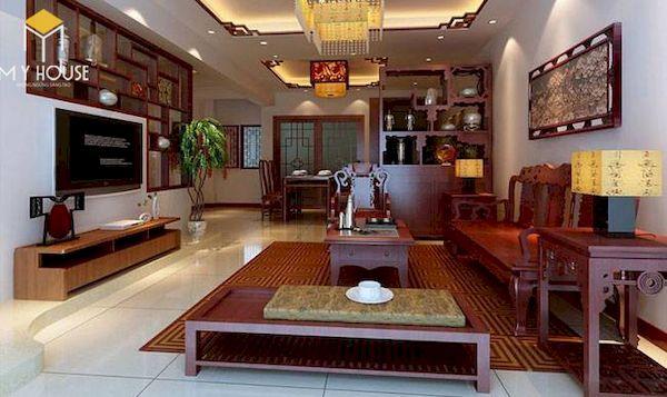 Phòng khách nhà cấp 4 đẹp - Hình ảnh 1