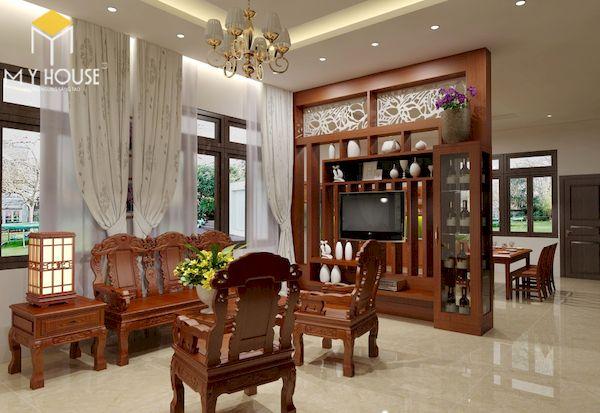 Phòng khách nhà cấp 4 đẹp - Hình ảnh 12