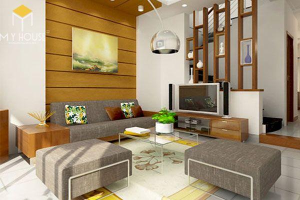 Phòng khách nhà cấp 4 đẹp - Hình ảnh 18
