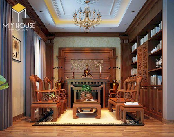 Phòng khách nhà cấp 4 đẹp - Hình ảnh 3