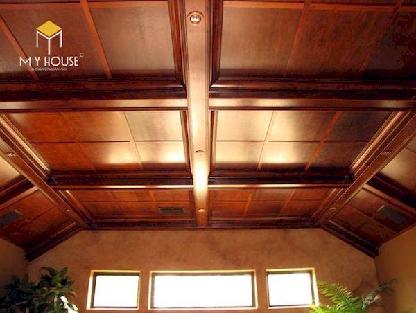 Mẫu trần gỗ đẹp - Hình ảnh 14