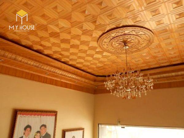 Mẫu trần gỗ đẹp - Hình ảnh 4