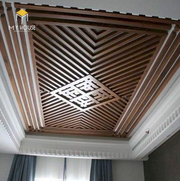 Mẫu trần gỗ đẹp - Hình ảnh 6