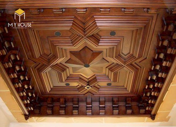 Mẫu trần gỗ đẹp - Hình ảnh 8