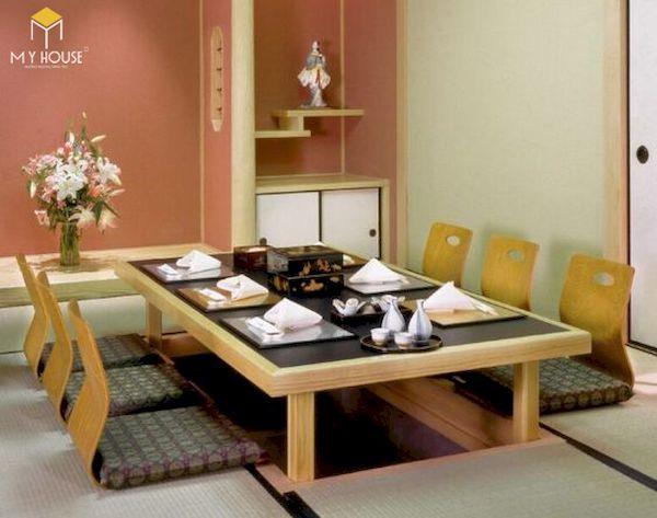 Bàn ăn kiểu Nhật đẹp - Hình ảnh 5