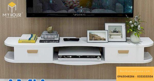 Mẫu kệ tivi treo tường phòng khách -2