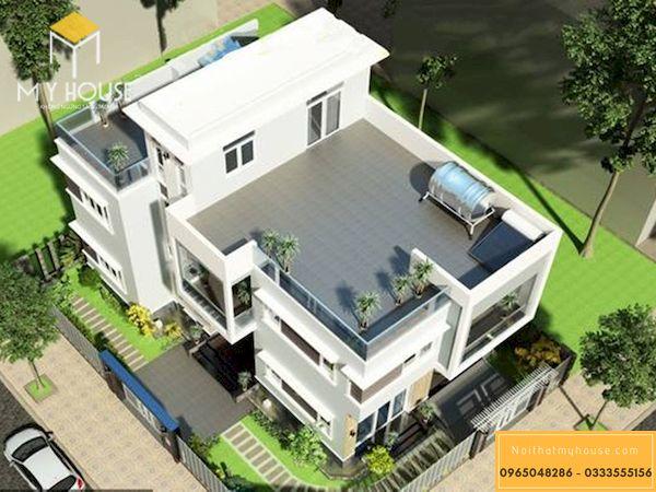 Lan can sân thượng xây gạch -3