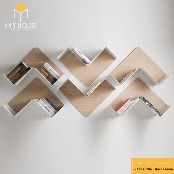 Kệ sách treo tường - Mẫu 10
