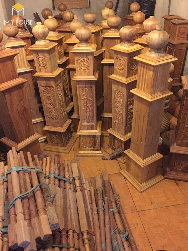 Mẫu con tiện cầu thang gỗ đẹp - Hình ảnh 24