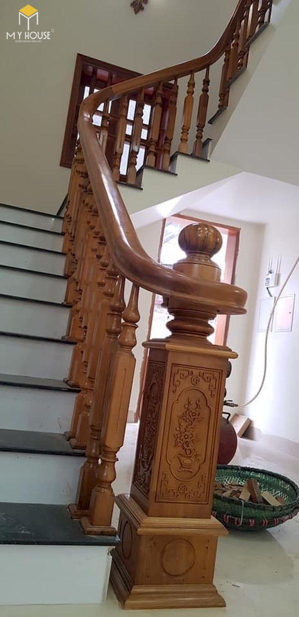 Mẫu con tiện cầu thang gỗ đẹp - Hình ảnh 29
