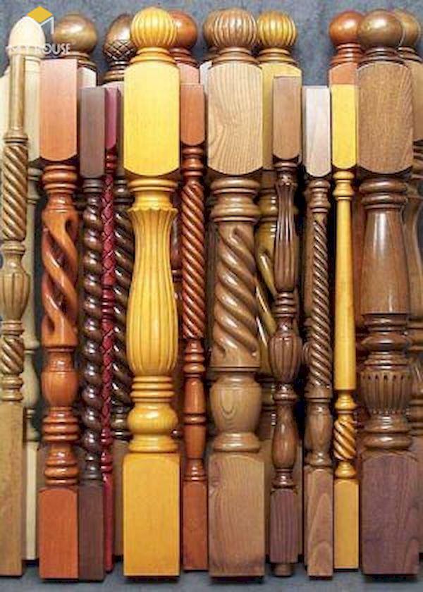 Mẫu con tiện cầu thang gỗ đẹp - Hình ảnh 4