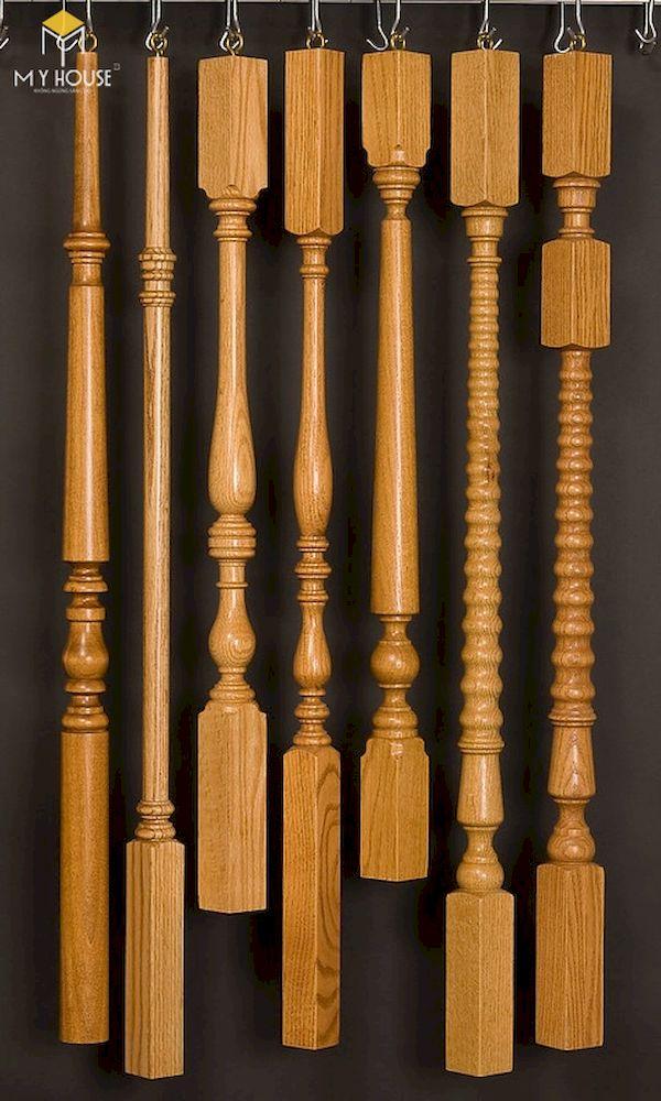 Mẫu con tiện cầu thang gỗ đẹp - Hình ảnh 7