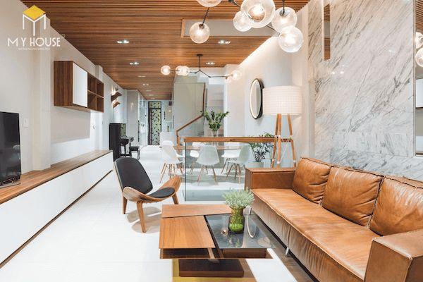 Phòng khách nhà ống 5m hiện đại - Mẫu 6