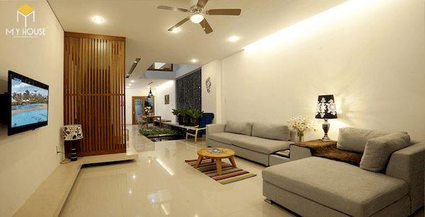 Phòng khách nhà ống 5m hiện đại - Mẫu 4