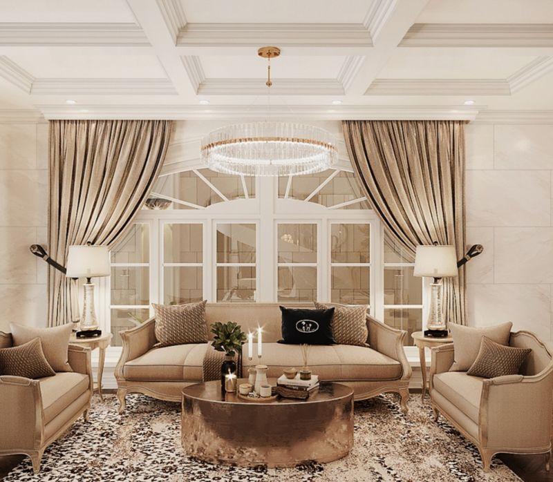 Mẫu thiết kế căn hộ Duplex Vinhomes West Point - khu vực phòng khách