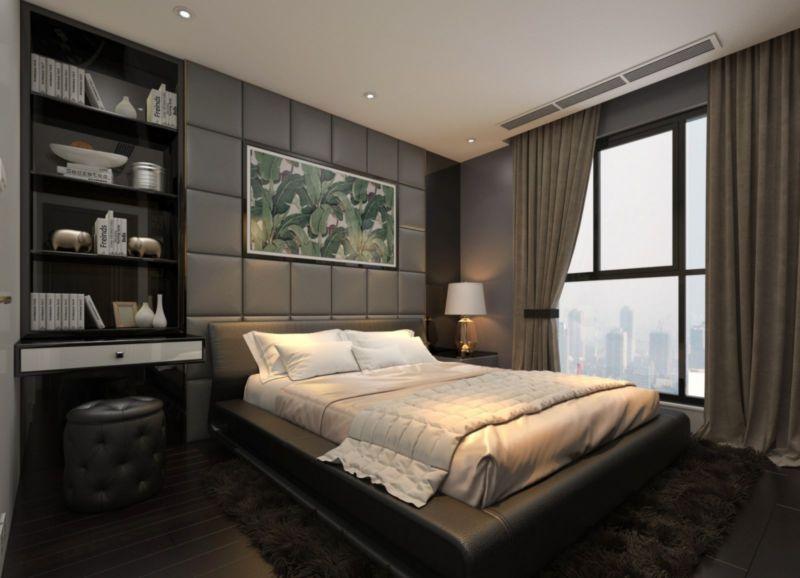 Thiết kế nội thất phòng ngủ người lớn cho căn hộ Duplex Sunshine