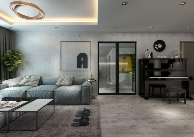 Phòng khách nội thất mang hơi thở hiện đại, trẻ trung