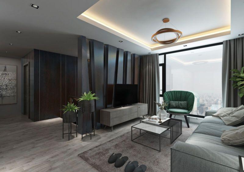 Mẫu thiết kế nội thất căn hộ Duplex Sunshine City - phòng khách