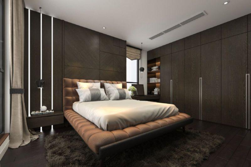 Tủ quần áo âm tường 6 cánh mở giúp phòng ngủ gọn gàng và ngăn nắp trong mọi tình huống