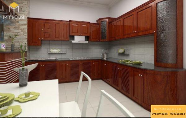 Nội thất gỗ hương cho phòng bếp