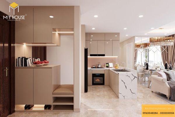 Nội thất phòng bếp chung cư 3 phòng ngủ 94m2 - Hình 13