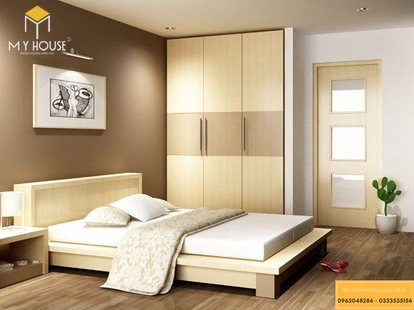 Bố trí nội thất phòng ngủ đơn giản - mẫu 6