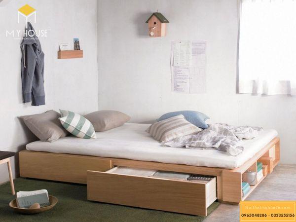 Thiết kế phòng ngủ nhỏ 10m2 cho vợ chồng - mẫu 1