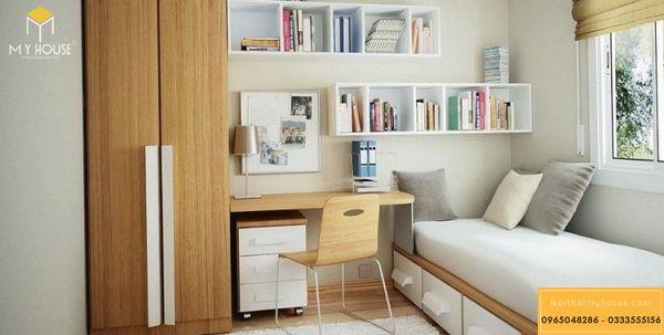 Giải pháp thiết kế phòng ngủ nhỏ 10m2 đẹp - mẫu 20