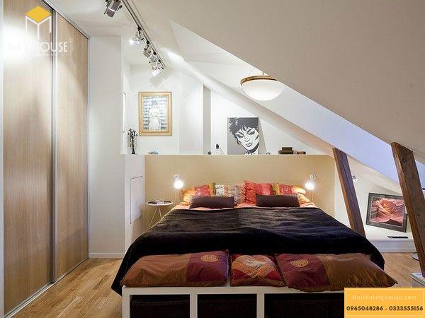 Thiết kế phòng ngủ nhỏ 10m2 cho vợ chồng - mẫu 2