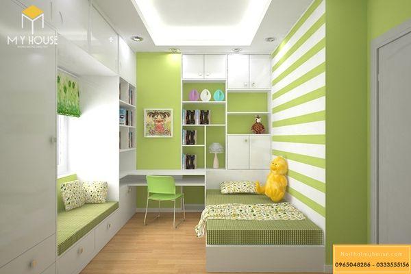 Giải pháp thiết kế phòng ngủ nhỏ 10m2 đơn giản - mẫu 21