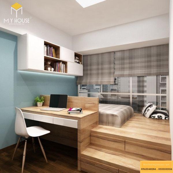 Phòng ngủ nhỏ cho vợ chồng - mẫu 3