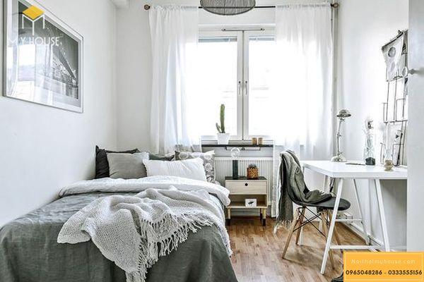 Phòng ngủ nhỏ cho vợ chồng - mẫu 4