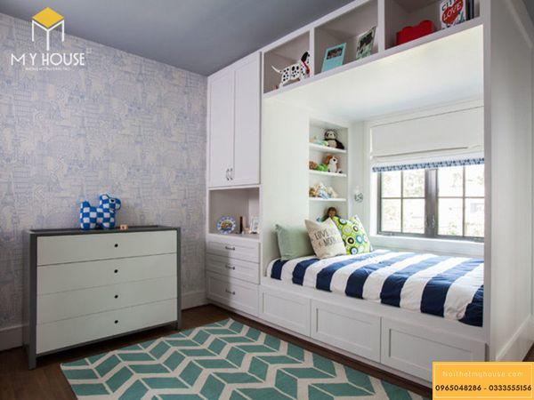 Thiết kế phòng ngủ nhỏ 10m2 cho bé trai - mẫu 12