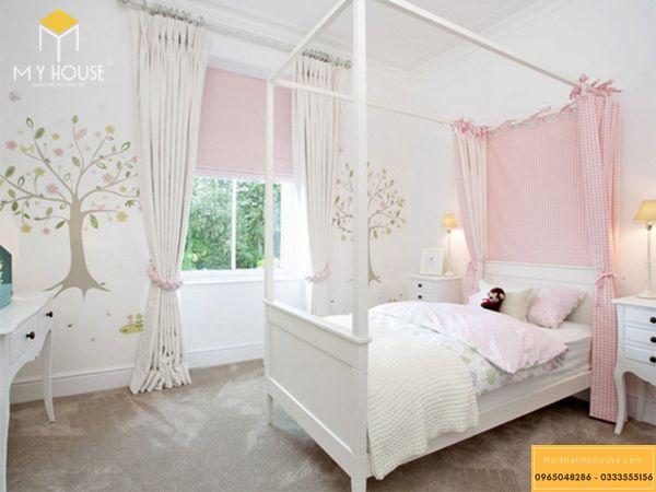Phòng ngủ nhỏ 10m2 cho bé gái - mẫu 11