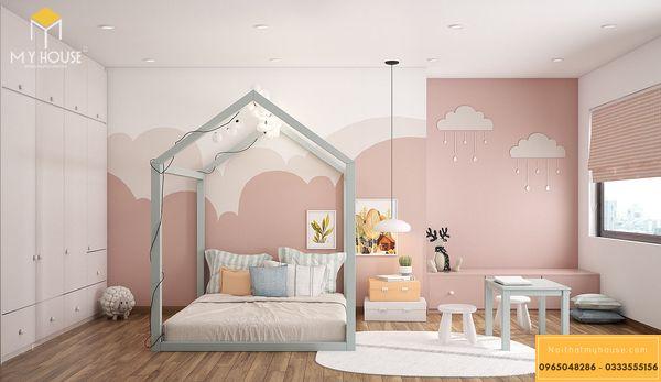 Thiết kế phòng ngủ nhỏ 10m2 cho bé gái - mẫu 8