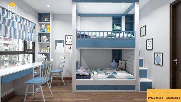 Phòng ngủ nhỏ cho bé trai - mẫu 16