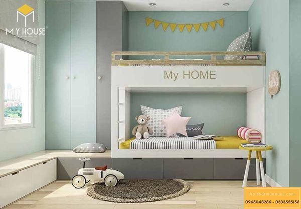Phòng ngủ nhỏ cho bé trai - mẫu 13