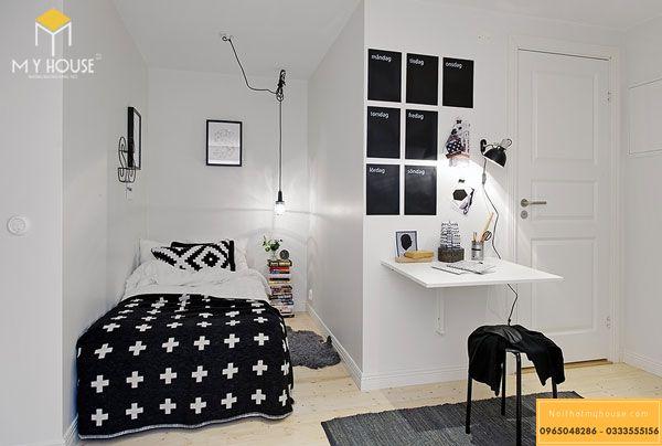 Thiết kế phòng ngủ nhỏ 10m2 cho người độc thân - mẫu 17