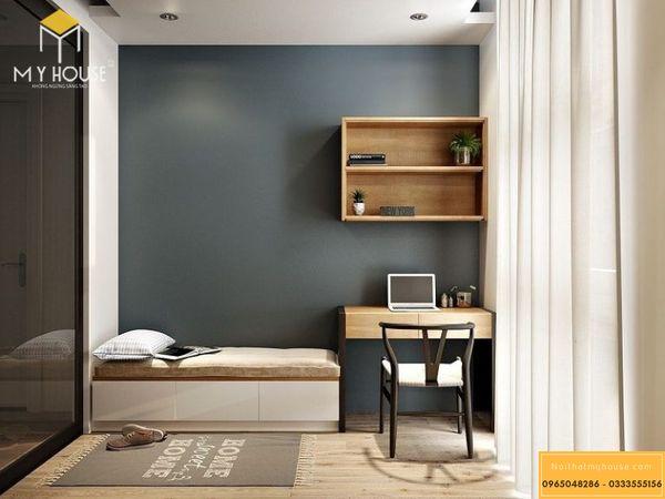 Phòng ngủ nhỏ cho người độc thân - mẫu 19