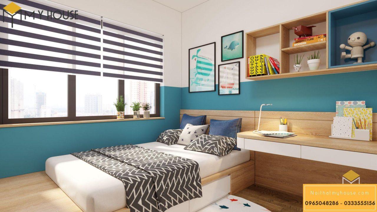Nội thất căn hộ 3 ngủ Diamond Gold Mark City