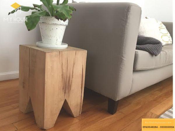 Đôn gỗ nguyên khối - hình 13