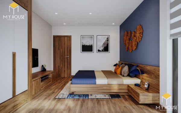 Giường gỗ sồi sơn màu óc chó - hình 11