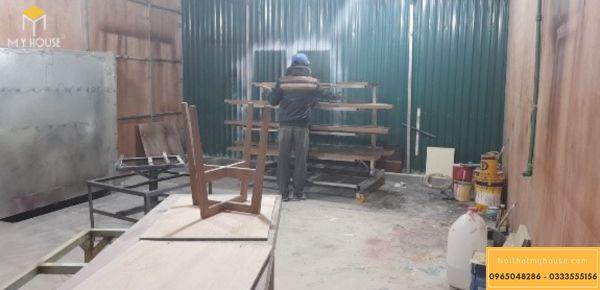 Nhà máy nội thất My House thi công nội thất gỗ sơn bệt