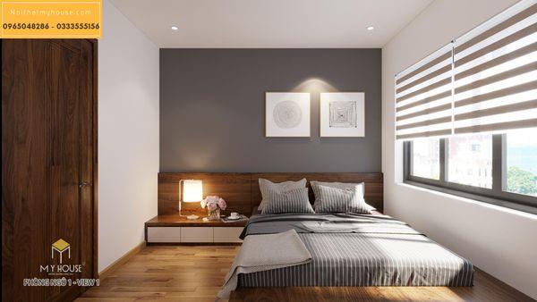Nội thất phòng ngủ căn 2 ngủ - hình 10
