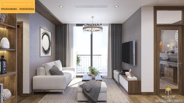 Nội thất phòng khách căn 2 ngủ - hình 2