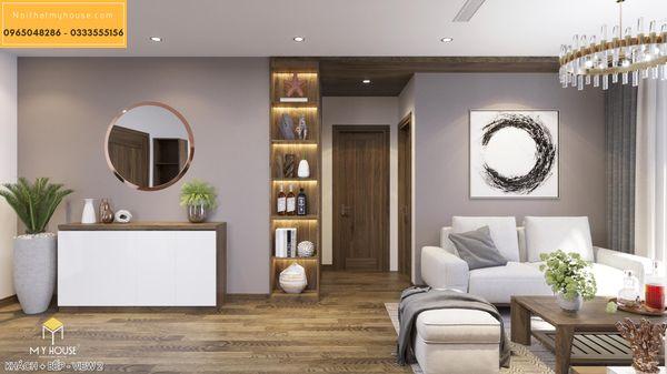 Thiết kế thi công nội thất căn hộ Hinode City 2 ngủ, 3 ngủ 3