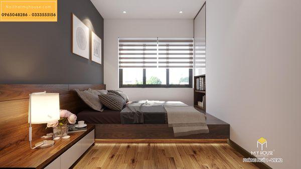 Nội thất phòng ngủ căn 2 ngủ - hình 9